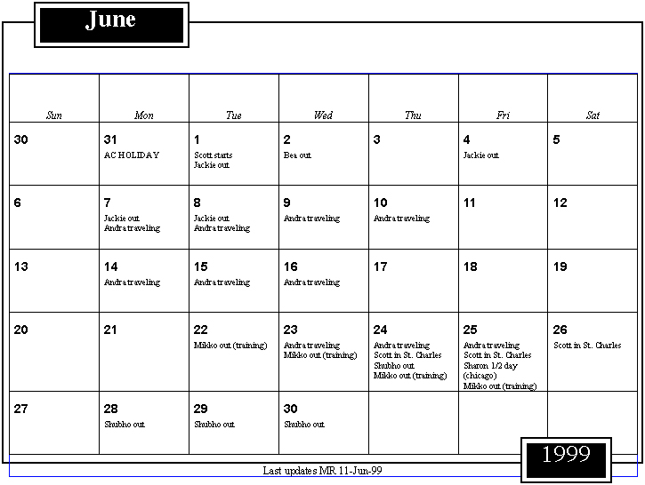 June Calendar History : Cerias pfires project calendar purdue university