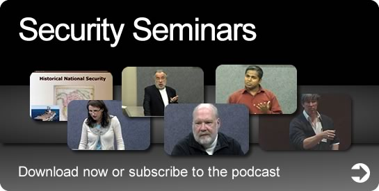 Security Seminars - Download now or subscribe to the podcast.