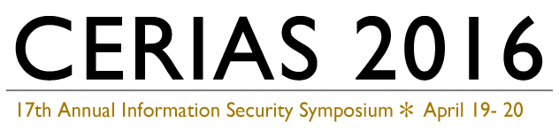 CERIAS Annual Information Security Symposium - April 19 - 20, 2016