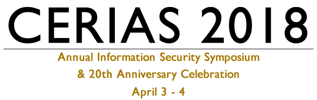 CERIAS Annual Information Security Symposium - April 03 - 04 2018