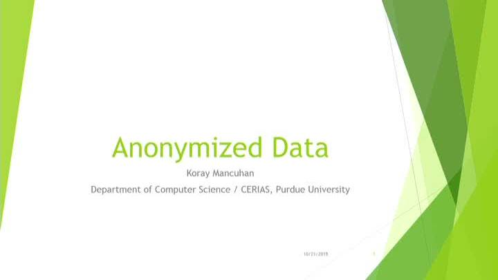 Anonymized Data