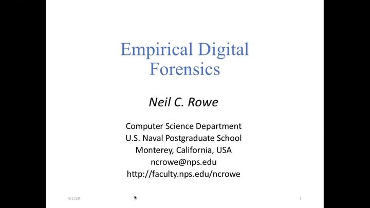 Empirical Digital Forensics