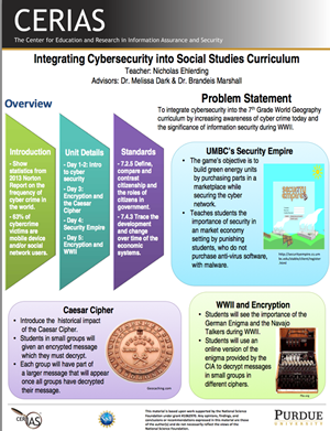 Integrating Cybersecurity into Social Studies Curriculum