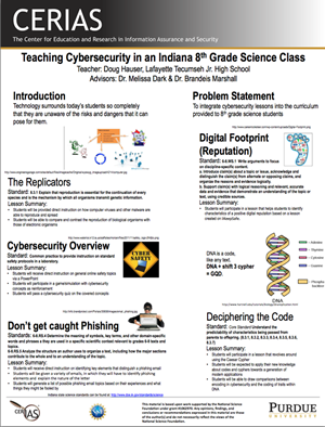 Teaching Cybersecurity in an Indiana 8th Grade Science Class