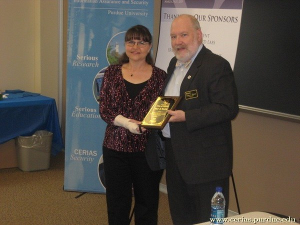 2009 CERIAS Pillar Award, Mary Jo Maslin